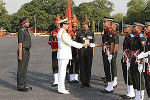 Indian Military Academy - Chief of Naval Staff, Admiral RK Dhowan at the passing out parade of IMA, 2015