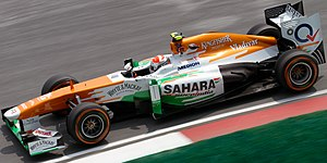 Force India VJM06 - Image: Adrian Sutil 2013 Malaysia FP1