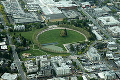 Aerial Downtown Bellevue Park May 2012.JPG