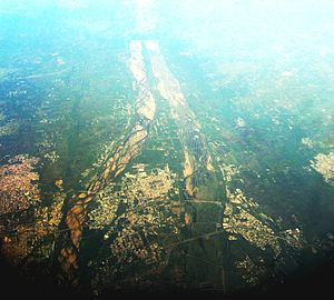 Srirangam - Srirangam as seen from the air
