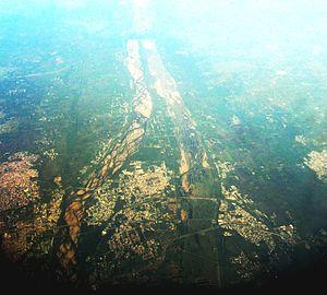 Srirangam - Srirangam as seen from the air