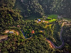Aerial view of Coorg near Kushalnagar