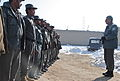 Afghan Uniformed Police Maj. Gen. Abdul Ghul Navi Ahmedzai, right, from 505th Afghan Uniformed Police Zone, talks to a group of AUP officers at the Afghan Uniformed Police prison at Pul-e Alam district, Logar 120128-A-BZ540-108.jpg