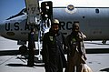 Afghan guerrillas that were chosen to receive medical treatment in the United States exit from a 375th Aeromedical Airlift Wing C-9A Nightingale MEDEVAC aircraft. Colonel (COL) Marv - DPLA - 2ac63ea2645f4edec6ea98a63aec947c.jpeg