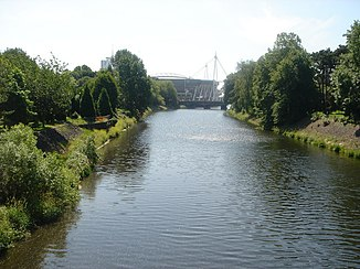 Da River Taff in Cardiff