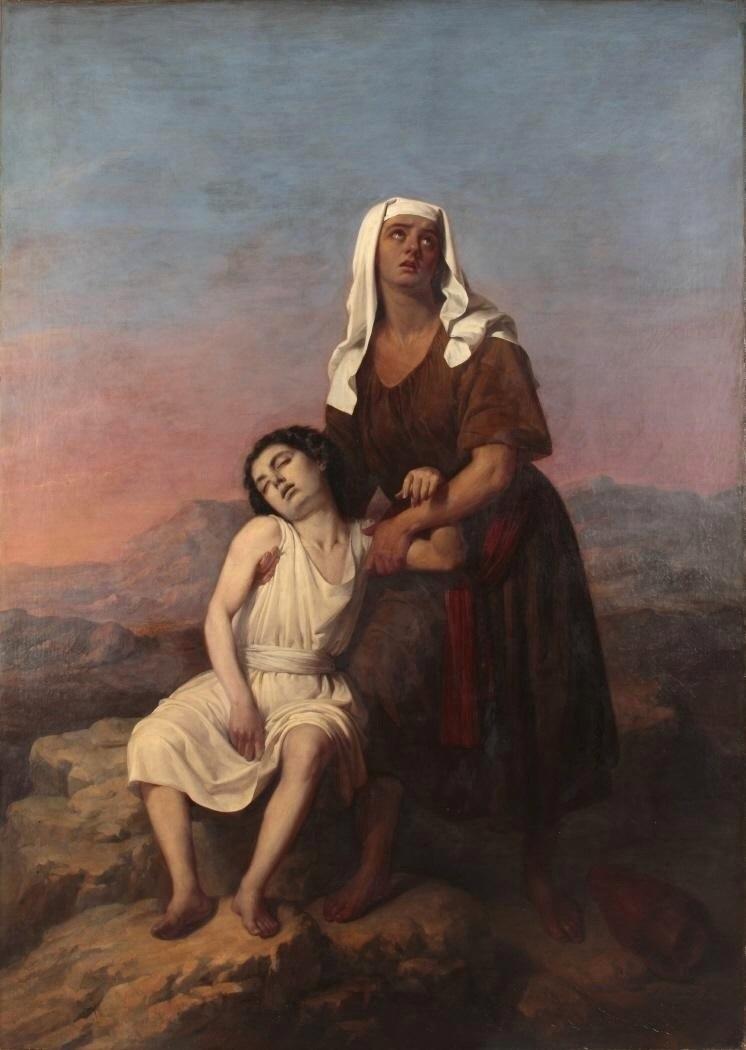 Agar e Ismael en el desierto, de Antonio María Esquivel (Museo del Romanticismo de Madrid)