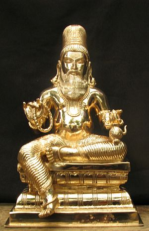 Agastya - Agastya depicted in a statue as a Hindu sage
