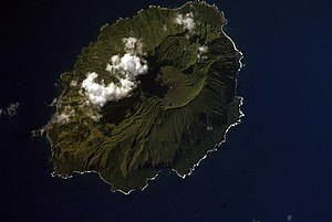 Agrihan - NASA Space Shuttle image of Agrihan island
