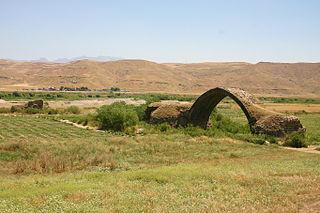 Ain Diwar Bridge Ruined roman bridge in Syria