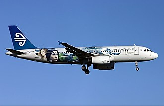 The Lord of the Rings (film series) - Air New Zealand painted this Airbus A320 in The Lord of the Rings livery to help promote the films.