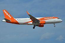 Un Airbus A320 durante un atterraggio.