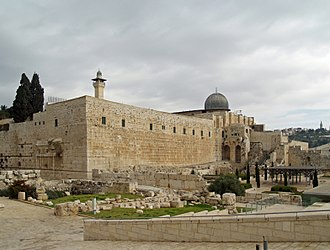 Muhammad in Islam - Al-Aqsa Mosque, in the Old City of Jerusalem, is said to be the location to which Muhammad traveled in his night journey. The location is the third holiest place for the Muslims.