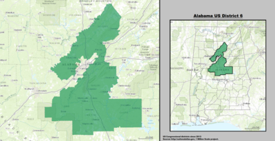 Alabama's 6th congressional district - since January 3, 2013.