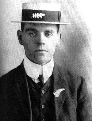 1907–08 New Zealand rugby tour of Australia and Great Britain - Tour organiser, sportswriter and footballer Albert Henry Baskiville