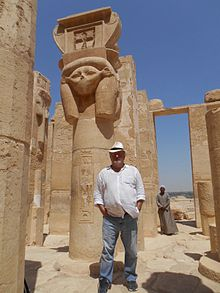 Aleksandar Bošković at the Temple of Hatshepsut, Egypt.jpg