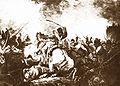 Aleksander Orłowski Kawaleria narodowa i polscy kanonierzy broniący umocnień przed piechotą rosyjską w 1794 roku.jpg