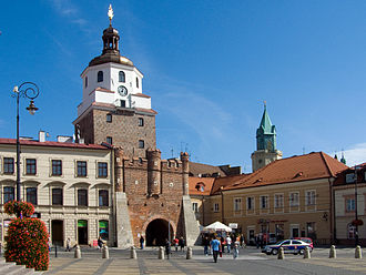 Lublin - Cracow Gate in the Old Town is among the most recognisable landmarks of the city.