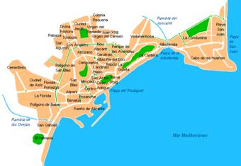 ALICANTE HISTORICA 340px-Alicante-barrios
