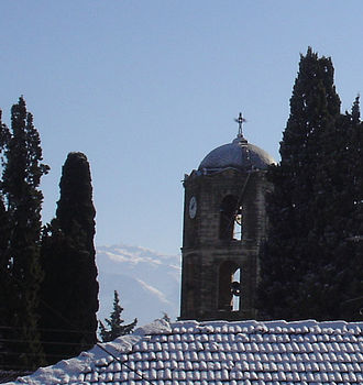 Alistrati - Belfry of Agios Athanasios orthodox church, at Alistrati.