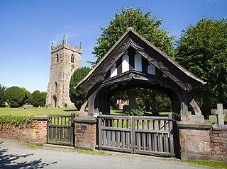Alrewas village in the United Kingdom