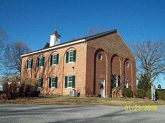 National Register of Historic Places listings in Calvert County, Maryland - Image: All Saints Front Dec 08
