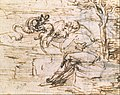 Allegory on the Fidelity of the Lizard (recto); Design for a Stage Setting (verso) MET DT339730.jpg