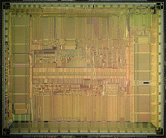 Alpha 21064 - DEC Alpha 21064 (EV4S) die shot