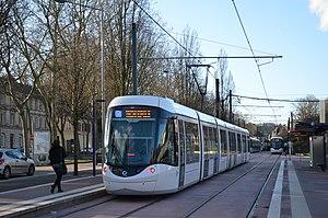 Rouen tramway - Image: Alstom Citadis 302 n°840 Boulingrin ASTUCE