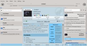 Amarok (software) - Image: Amarok 2.8.90