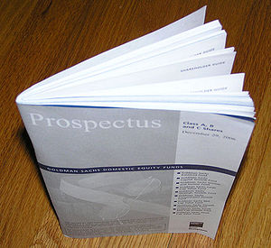 English: Prospectus booklet