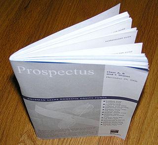 Prospectus (finance)