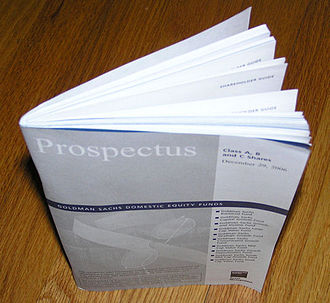 Prospectus (finance) - A prospectus from the US