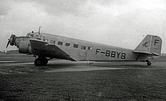 Avions Amiot - Amiot AAC.1 of Societe Trans Atlantique (STA) at Manchester Airport in 1948