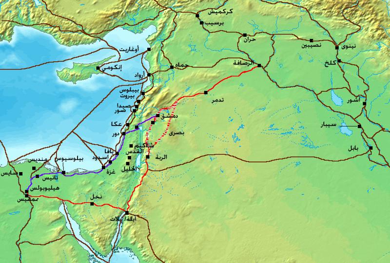 Ancient Levant routes-ar