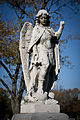 Angel statue at Holy Cross Cemetery in Calumet City, Illinois.jpg