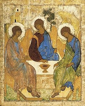 アンドレイ・ルブリョフによるイコン『至聖三者』