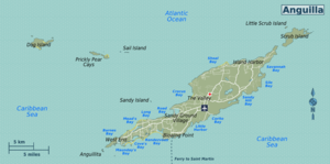 Karte von Anguilla