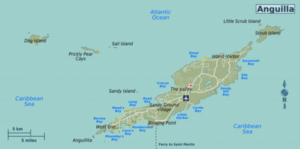 Anguilla Travel Guide At Wikivoyage - Caribbean anguilla map