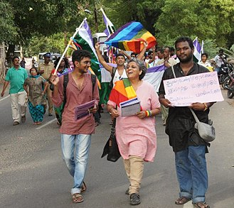 Anjali Gopalan - Asia's first Genderqueer Pride Parade at Madurai with Gopi Shankar Madurai and Anjali Gopalan