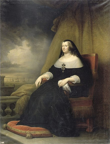 Anne of Austria widow, by Charles de Steuben, Versailles. She never lost her love for magnificent jewellery, and she especially loved bracelets, which emphasized her famously beautiful hands AnnaofAustria13.jpg