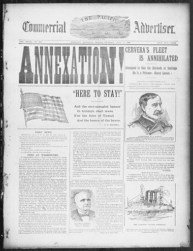 Annexation of the Republic of Hawaii in 1898 Annexation Here to Stay.jpg