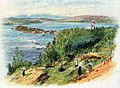Annotated proof, The Nordaasvand - Norwegian Coastal scene with countryfolk working in the foreground RMG PV1007.jpg