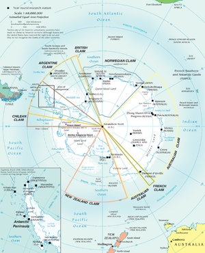 Territorial claims in Antarctica - Research stations and territorial claims in Antarctica (2002).