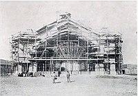 Antigua Estación Pirque en construcción (1909).jpg