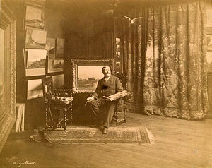 Antoine Guillemet - Antoine Guillemet in his Paris studio, c.1890