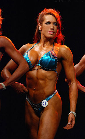 April Hunter in a fitness model competition
