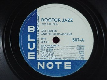English: Art Hodes Docot Jazz - Blue Note records