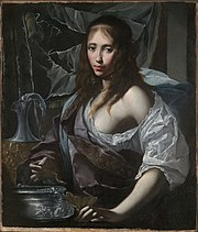 Artemisia Prepares to Drink the Ashes of her Husband, Mausolus (c. 1630), attributed to Furini