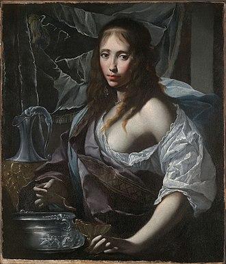 Artemisia II of Caria - Artemisia Prepares to Drink the Ashes of her Husband, Mausolus (c.1630) by Francesco Furini