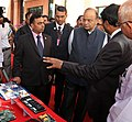Arun Jaitley being explained about RLG based inertial navigation system for ship applications (INS-SA) by the DRDO Scientists, during the handing over ceremony of the DRDO developed products to the Indian Navy, in New Delhi.jpg